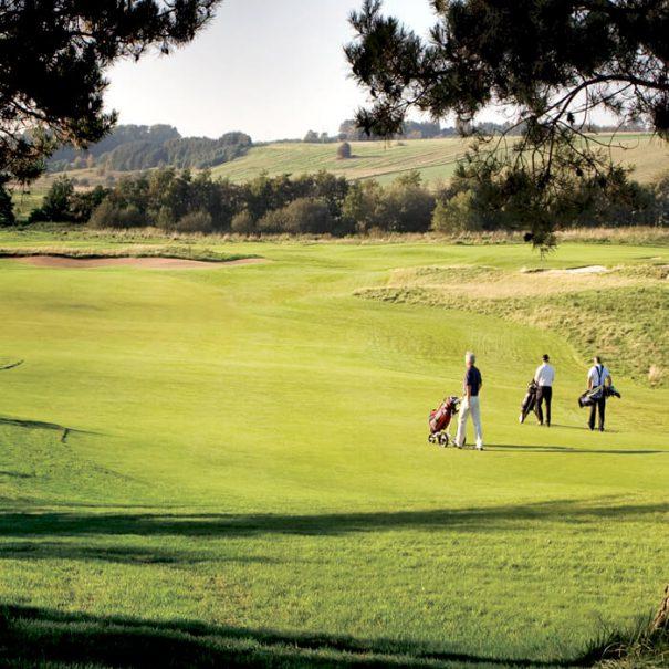 Golfbane med 3 golfspillere